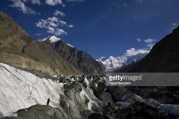 An overview of Hopar glacier on July 6, 2007 in the Central Hunza Region, Northwest Frontier Province, Pakistan. This year is on track to becoming...