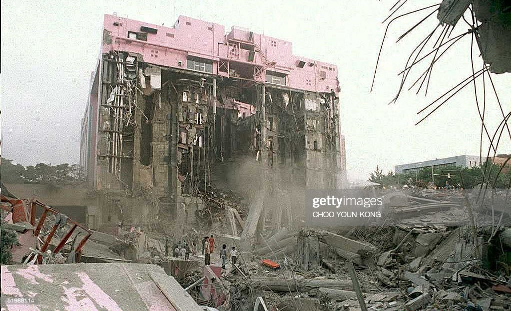 46 South Korea Collapsed Department Store Pictures, Photos