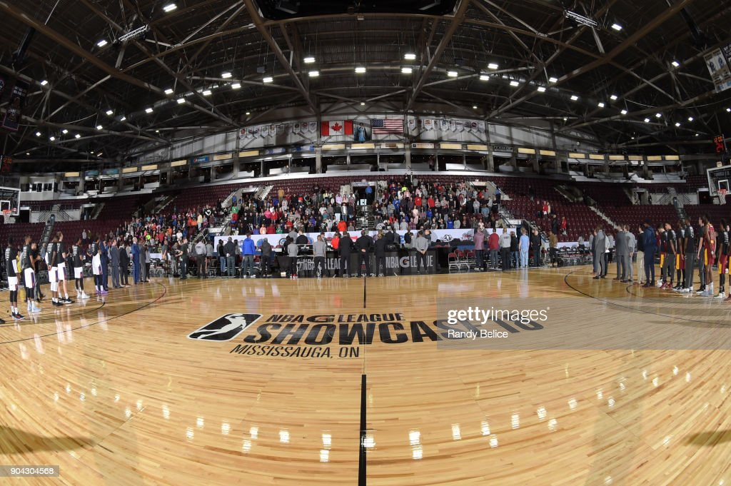 An overview of the interior of the Hershey Centre before the game between the Canton Charge and Northern Arizona Suns during the G-League Showcase on January 12, 2018 at the Hershey Centre in Mississauga, Ontario Canada.