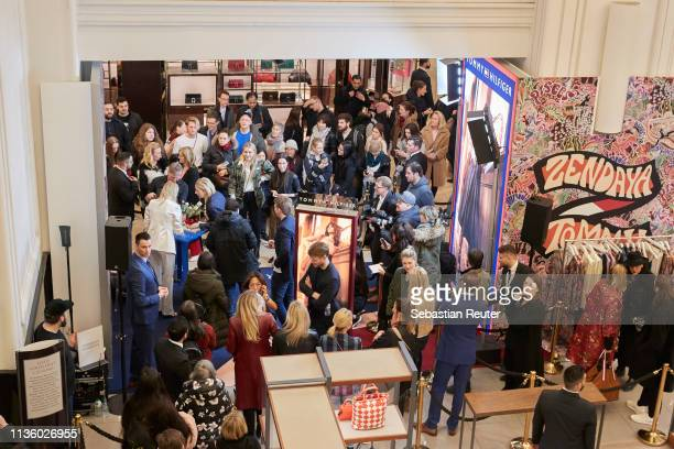 An overview of the venue during the 'TommyxZendaya' meet greet event at KaDeWe on March 15 2019 in Berlin Germany