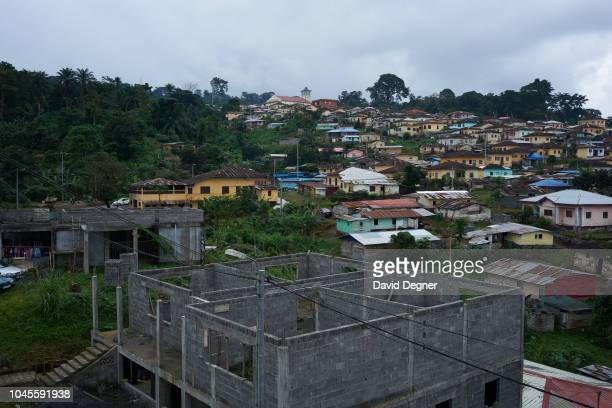 An overview of the village of Rebola near Malabo on August 08 2018 in Rebola Equatorial Guinea It is located in the province of Bioko Norte and used...