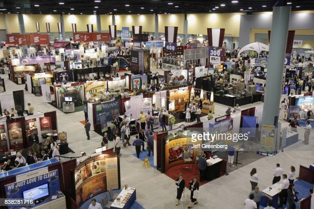 An overview of vendors booths at the Franchise Expo