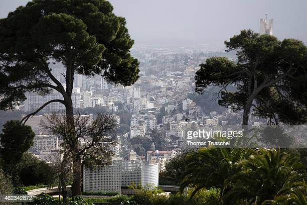 An overview shows a cityscape of Algiers on January 25 2015 in Algiers Algeria