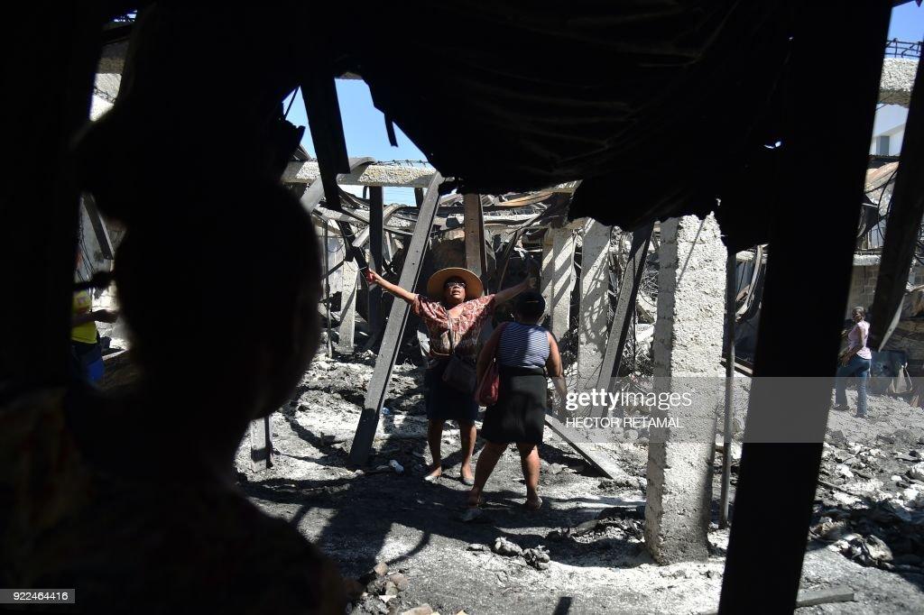 HAITI-MARKET-FIRE : News Photo