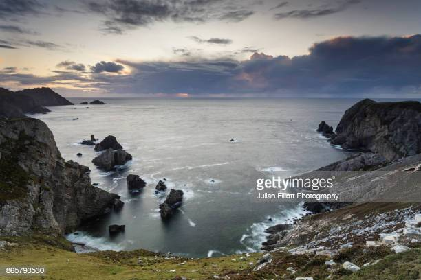 an port on the rugged donegal coastline, ireland. - ulster province stock pictures, royalty-free photos & images