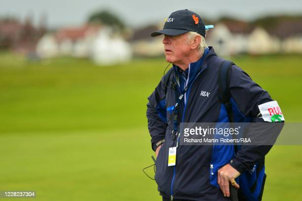 An RA Referee looks on during Round 3 of Matchplay on Day Four of The Women's Amateur Championship at The West Lancashire Golf Club on August 28 2020...