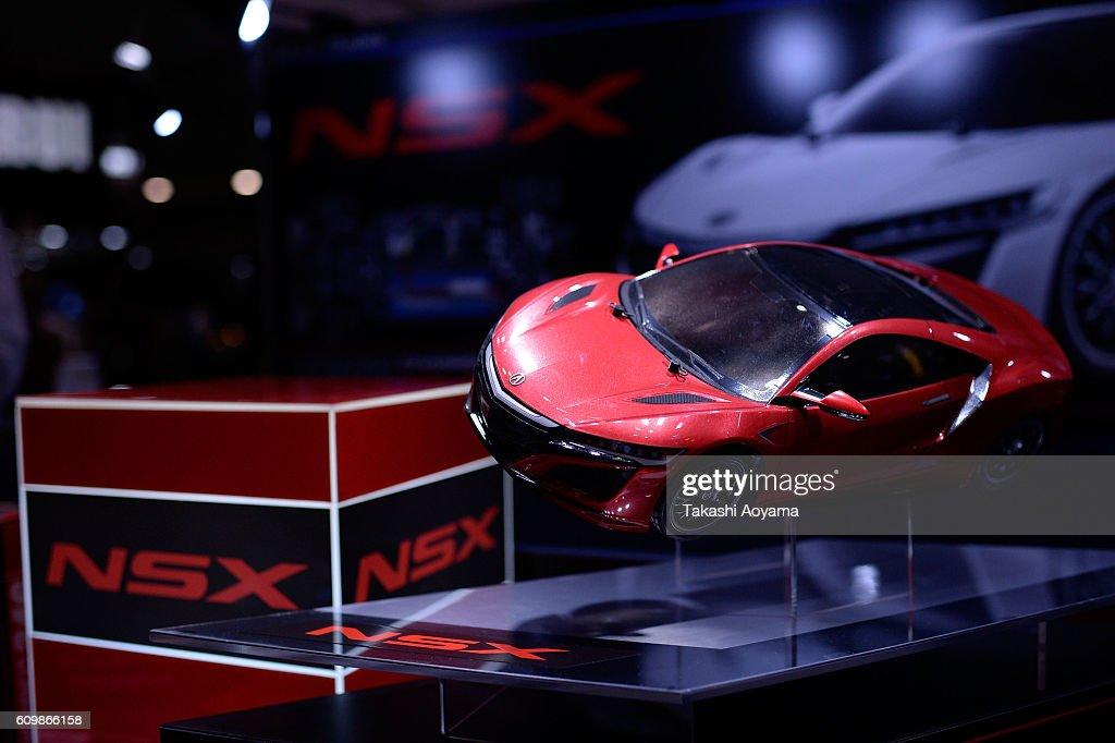 Rc Car News >> An Rc Car Of Honda Nsx Is Displayed At The Tamiya Booth