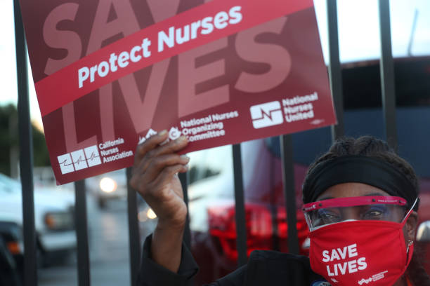 USA: Nurses Hold National Day Of Action To Save Lives During Coronavirus Pandemic
