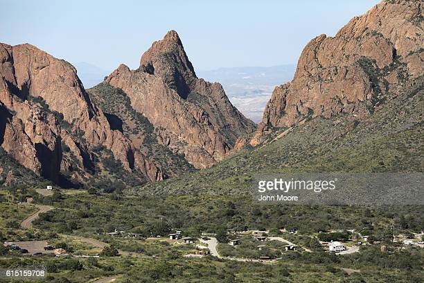 An RV camp sits within the Chisos Basin of the Big Bend National Park on October 16, 2016 in West Texas. Big Bend is a rugged, vast and remote region...