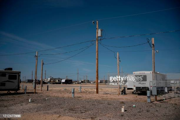 An RV park that usually houses oil field workers appears half empty on May 8, 2020 in Carlsbad, New Mexico. - Waiting for an upturn or pulling out, a...