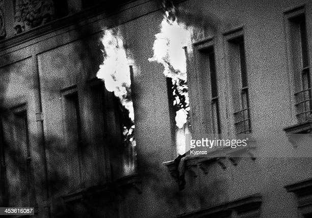 An SAS assault on the building during the Iranian Embassy Siege South Kensington London 5th May 1980