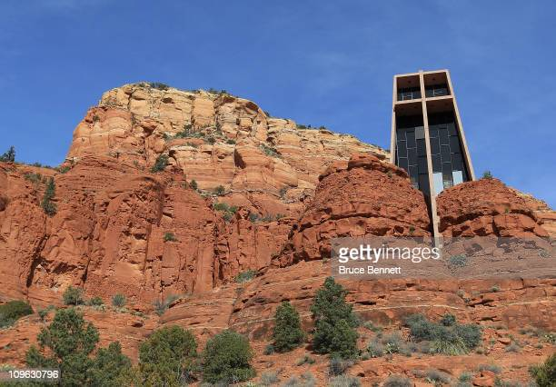 An scenic view of the Chapel in the Rocks as photographed on February 62011 in Sedona Arizona