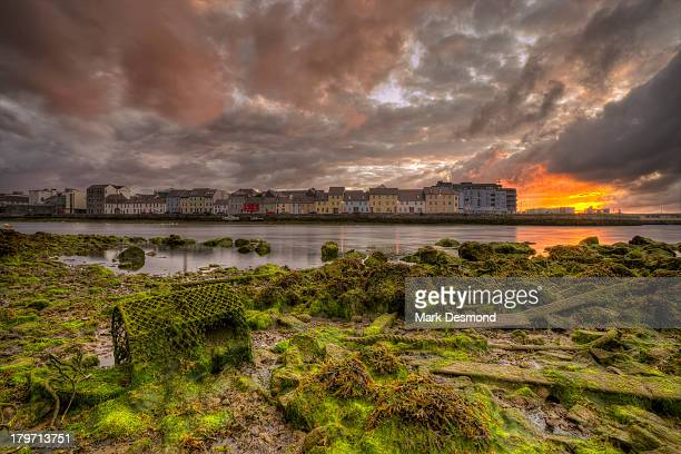 an siulan fada | claddagh quay, galway city. - county galway stock pictures, royalty-free photos & images