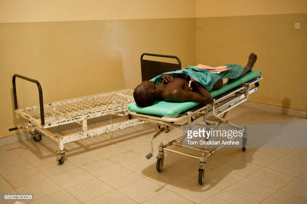 An SPLA soldier wounded in fighting photographed after emergency treatment by the ICRC Field Surgical Team led by senior surgeon Dr Tesfayie Feleke...