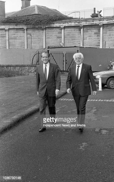 An Tanaiste Brian Lenihan Minister for Foriegn Affairs meeting with Kevin McNamara British Labour Party and Northern Ireland spokesman at Leinster...