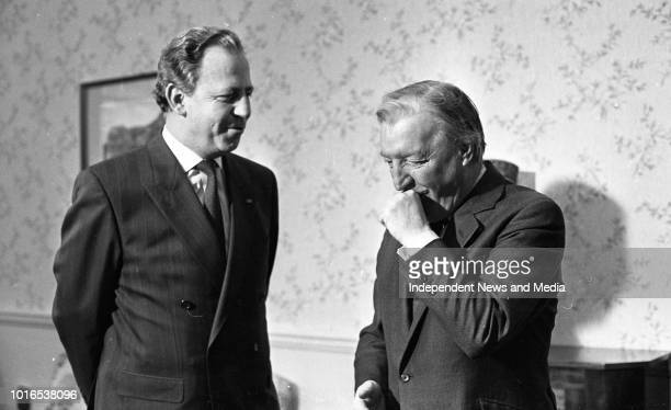 An Taoiseach Charles Haughey with the Prime Minister of Luxembourg and the Minister for Finance as well as the President of the European Peoples...