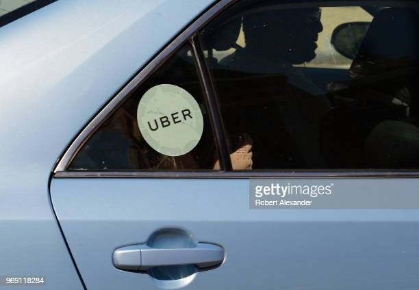 An Uber driver and car with passengers in Washington DC