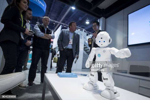 An Ubtech Robotics Inc Lynx humanoid robot stands on display during the 2018 Consumer Electronics Show in Las Vegas Nevada US on Thursday Jan 11...