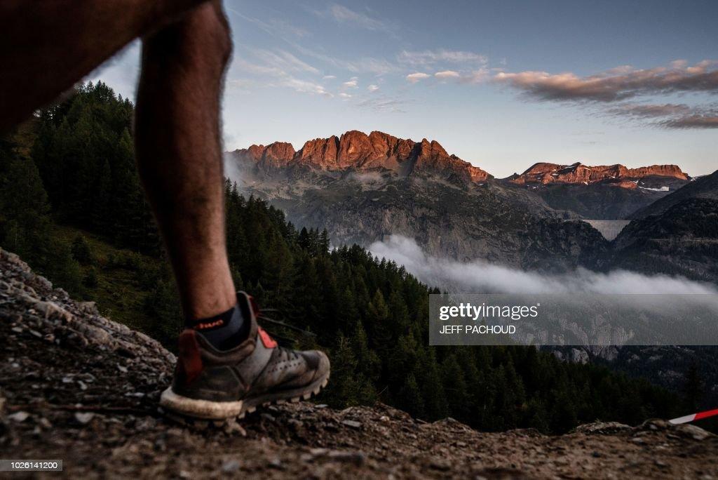 FRANCE-MOUNTAIN-RACE-TRAIL-UTMB-ITALY-SWITZERLAND : News Photo