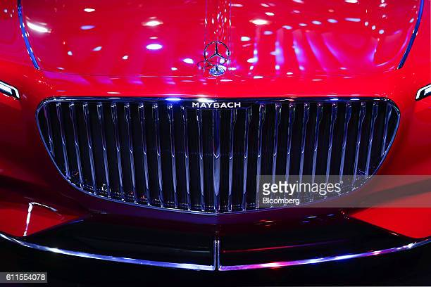 An ultra-luxury Vision Mercedes Maybach 6 automobile, manufactured by Mercedes-Benz AG, sits on display during the second press day of the Paris...