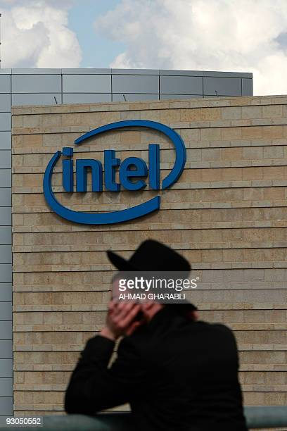 An ultraOrthodox Jew stands outside the Intel plant in Jerusalem's Hozvim Mountain industrial area during a demonstration on November 14 2009 against...