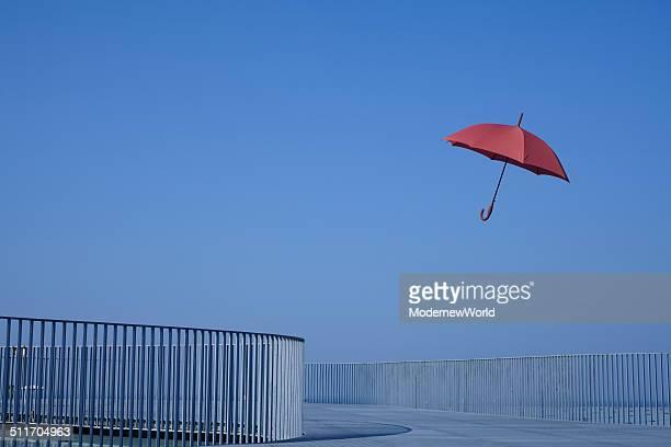 an umbrella in the sky