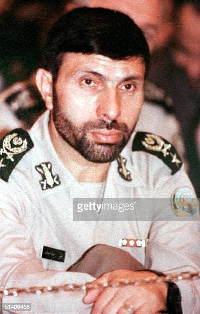 An undated file picture shows General Ali Sayed Shirazi who was killed in Tehran 10 April 1999 The People's Mujahedeen the main Iranian rebel group...