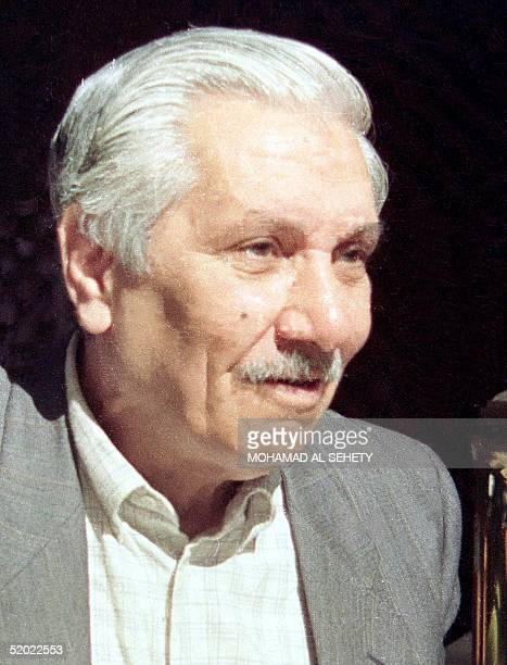 An undated file picture shows the Iraqi poet AbdelWahab alBayati who died at the age 73 of a heart attack in Damascus 03 August 1999 AlBayati is...