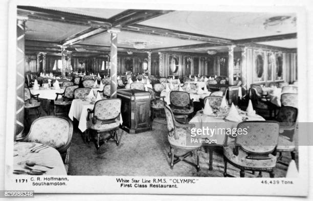 An undated file showing the wood paneling in place on the RMS Olympic sister ship to the Titanic The original wood paneling which currently resides...