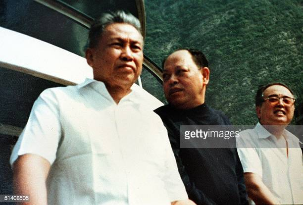 An undated photo of genocidal leader Pol Pot with former Khmer Rouge foreign minister Ieng Sary recovered from the guerilla's former stronghold of...