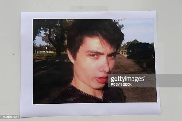 An undated photo of murder suspect Elliot Rodger is seen at a press conference by the Santa Barbara County Sheriff in Goleta, California May 24,...