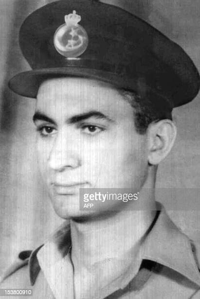 An undated picture of Egyptian President Hosni Mubarak as a young Royal Egyptian Air Force Lieutenant taken before the revolution that deposed King...
