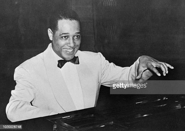 An undated picture of famous American jazz musician composer conductor and piano player Duke Ellington