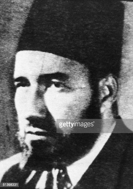 An undated picture of Sheikh Hassan alBanna the founder of Egypt's Moslem Brotherhood group one of the most influential Islamic revivalist movements...