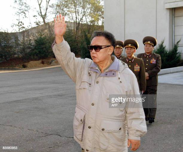 An undated picture released from Korean Central News Agency on November 6 shows North Korean leader Kim Jong Il inpsecting a drill ground of a...