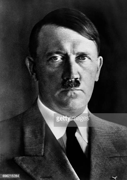 An undated portrait of German Nazi Chancellor Adolf Hitler After Hitler was made Chancellor in January 1933 he suspended the constitution silenced...