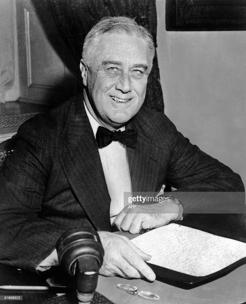 An undated portrait of US President Franklin D. Roosevelt.