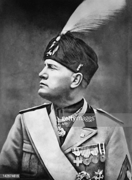 An undated portrait shows Italian fascist dictator Benito Mussolini AFP PHOTO