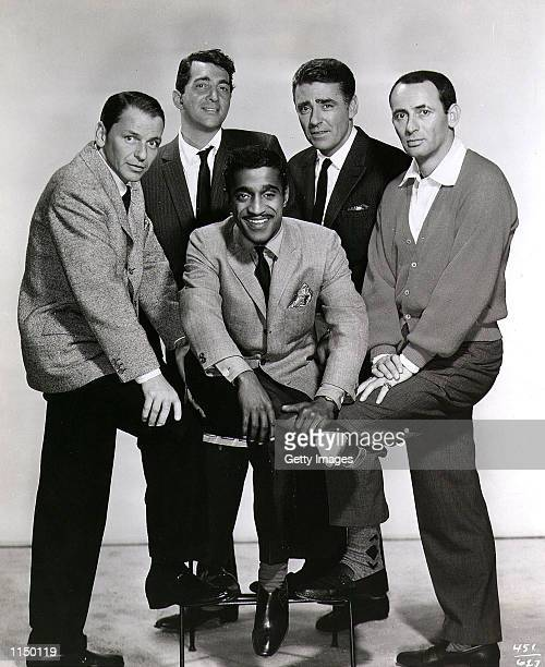 An undated promotional photo of the ''Rat Pack'' Frank Sinatra Dean Martin Sammy Davis Jr Peter Lawford and Joey Bishop
