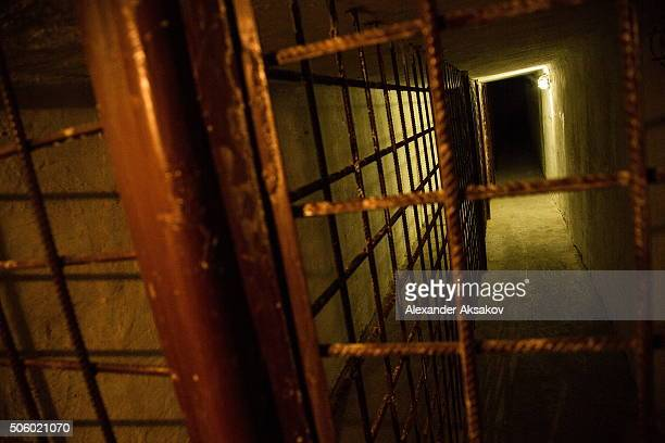 An underground tunnel which was used to move prisoners to their work places and to other blocks of cells is seen in the museum of the Prison Castle...
