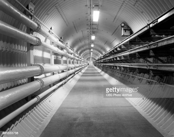 An underground view of part of the Strategic Air Command missile sites at Lowry Air Force Base headquarters of the 451st Strategic Missile Wing This...