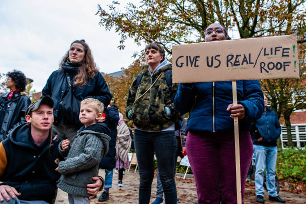 NLD: People From The Group 'We Are Here' Demonstrated To Demand Permanent Residency, In Amsterdam