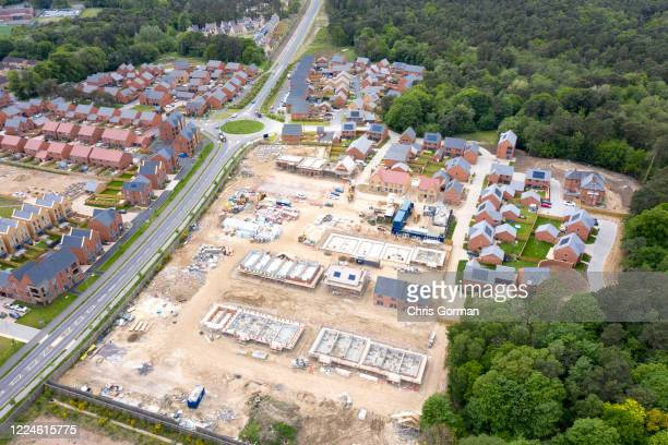 An unfinished new Housing estate in lockdown on May 13, 2020 in Bordon, Hampshire. The downturn in the economy as a result of COVID-19 has resulted...