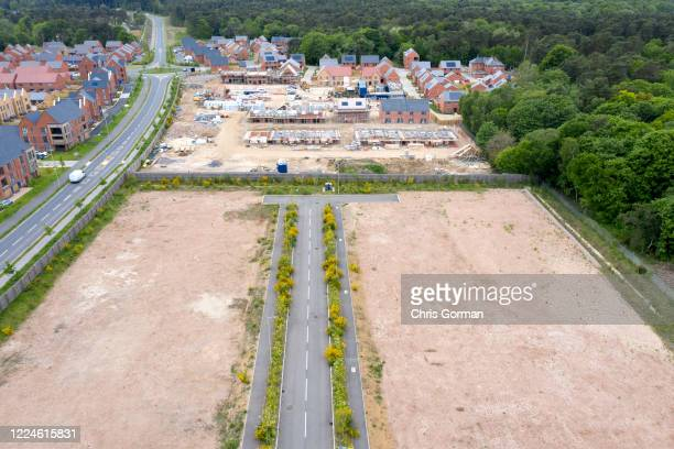 An unfinished new Housing estate in lockdown on May 13 2020 in Bordon Hampshire The downturn in the economy as a result of COVID19 has resulted in...
