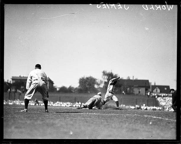Play during the 1929 World Series