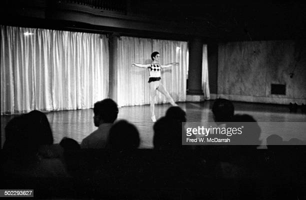 An unidentified dancer performs onstage during the 'Concert Of Dance' production at Judson Church New York New York July 6 1962