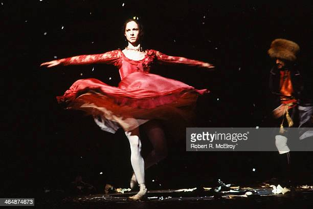 An unidentified female dancer performs in Frank Ohman's New York Dance Theatre production of 'The Nutcracker' New York New York 1982