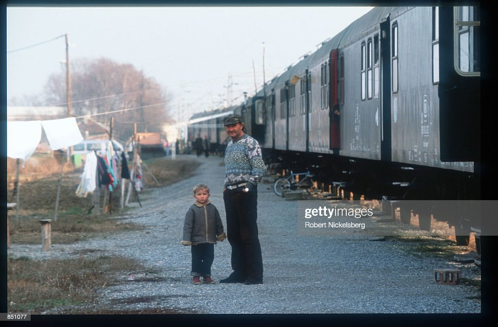 Croat And Muslim Refugees Surviving War : News Photo