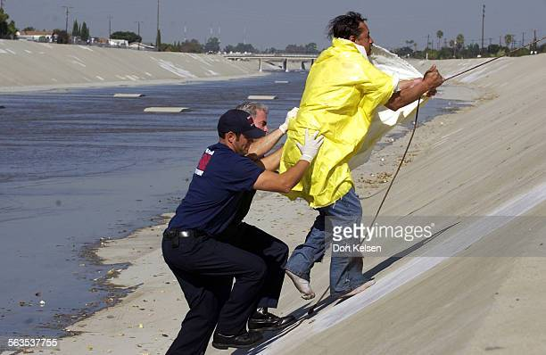 An unidentified man found himself caught in the swift flowing water of the Santa Ana river Wednesday afternoon Santa Ana firefighter were able to...