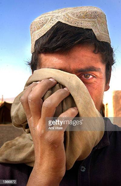 An unidentified Pashtun Afghan who was living in a camp for displaced people around Spin Boldak near the border of Pakistan and southern Afghanistan...